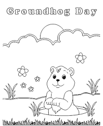 Small Picture BlueBonkers Groundhog Day Coloring Page Sheets Groundhogs Day 11