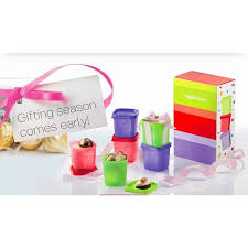 tupperware birthday pe small gift set 6x80ml with gift box