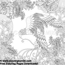 Zentangle Japanese Design Bird Coloring Page 678 Coloring By Miki