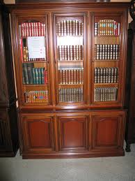 cherry bookcases with doors best home design 2018
