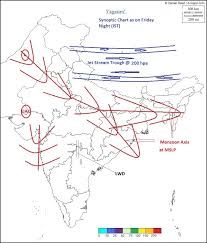 Vagaries Of The Weather Indian Sub Continent Chart As On