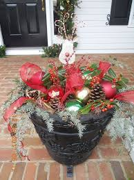 outdoor flower pot ideas for best of great idea for a winter outdoor planter of