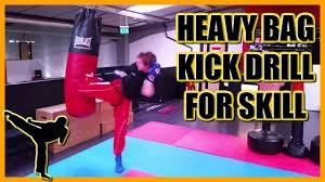 heavy bag routine better kicking for kickboxing muay thai karate and taekwondo
