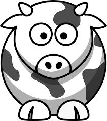 cow black white coloring book svg colouringbook hanslodge transpa library
