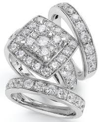 discount diamond wedding ring sets. 14k white gold diamond bridal ring set (4 ct. t.w.) discount wedding sets