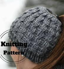 Messy Bun Beanie Knitting Pattern Best Design
