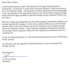 Endorse - Richard B Ramirez - Candidate For Orange County Assessor