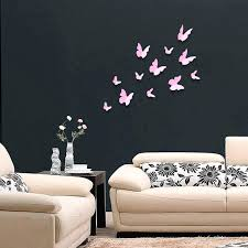 wall decals flowers and butterflies pink butterflies wall art stickers pink butterflies  wall wall decals . wall decals flowers and butterflies ...