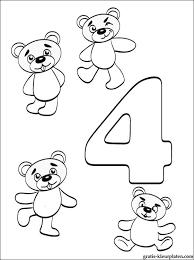 Nummer 4 Kleurplaat Cijfer 4 Vier Gratis Kleurplaten