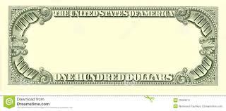 Design Your Own Dollar Bill Template Blank 100 Dollar Bill Reverse Side Stock Illustration