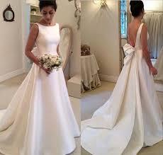 wd46 satin backless wedding dresses wedding dress custom made