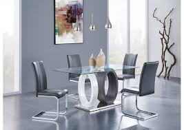Glass top dining tables Chairs Glasstop Dining Table W4 Chairsglobal Furniture Usa Home Gallery Furniture Home Gallery Furniture Store Philadelphia Pa Glasstop Dining