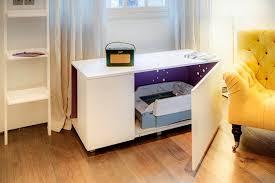 creative space saving furniture. Space-Saving Creative Furniture Design - Cat Litter Box Inside A Living-room Table Space Saving E