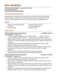 nurse anesthetist resumes best certified registered nurse anesthetist resumes resumehelp