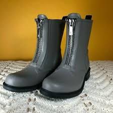 Frye Boots Size Chart Details About Frye Storm Womens Short Rain Boots Bootie Waterproof Gray Front Zip Size Us 6 M