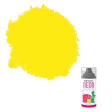 Rust Oleum Neon Yellow Matt Spray Paint 150 Ml Departments Diy At B Q
