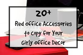 girly office supplies. Red Office Supplies Girly Decor