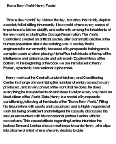 brave new world essays brave new world essay gcse english marked  brave new world henry foster at comessay on brave new world henry foster