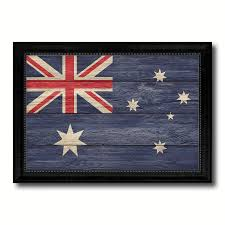australia country flag texture canvas print with black picture frame home decor wall art decoration collection on country style wall art australia with australia country flag texture canvas print with black picture frame