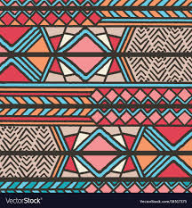 Bohemian Pattern Custom Tribal Ethnic Colorful Bohemian Pattern Royalty Free Vector
