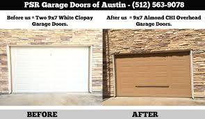 Garage Door Repair Austin TX PSR Before White Clopay Door After ...