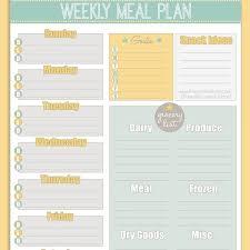 Free Printable Weekly Meal Planner Calendar With Printable Menu