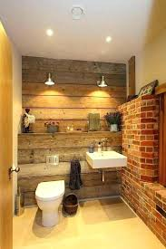 reclaimed wood bathroom tiles wall for rustic design with and exposed brick w
