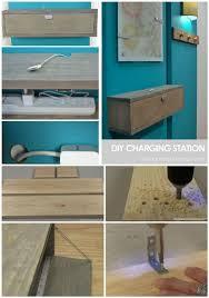 diy wall mounted charging station shelf
