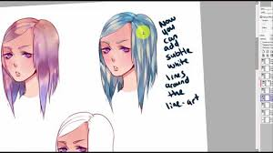 hair coloring tutorial 3 diffe ways to color paint tool sai you