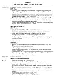 Banking Analyst Resume Samples Velvet Jobs