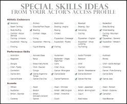 List Of Skills And Abilities For Resume Functional Resume