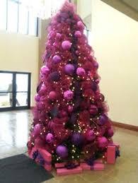Pink and purple Christmas tree