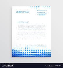 Business Letterhead Creative Blue Business Letterhead Design Vector Image