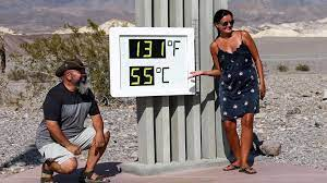 Record high temperature in Death Valley ...
