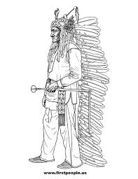 Native American Clipart To Color In Sitting Bull