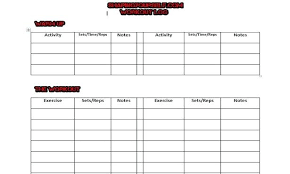 Log Physical Activity Template Weekly Preinsta Co