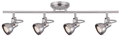 track rail lighting. CANARM IT622A04BN10 Ltd Polo 4 Light Track Rail Adjustable Heads, Brushed Nickel Product Image Lighting