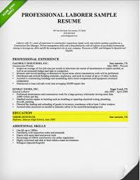 writing of resume