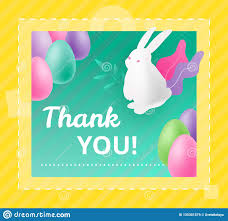 Thank You Easter Thank You Easter Card Stock Vector Illustration Of Template