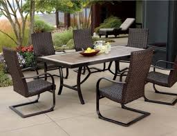 Contemporary Patio Furniture Furniture Contemporary Patio Dining Set With Black Metal And