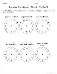 Telling Time Worksheets Printable For Grade 3 Draw The Clock Free ...