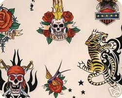 Tattoo Skin by Alexander Henry Biker Ink Skull Tiger Pink ... & Tattoo Skin by Alexander Henry Biker Ink Skull Tiger Pink Background  Smaller Scale Cotton Fabric Quilt Fabric 273-W08 Adamdwight.com