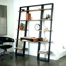 large bookcase with ladder target shocking leaning shelf desk black