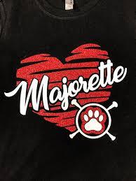 Soccer Camp Shirt Designs School Spirit Majorette Tee Majorette Heart Glitter Tee