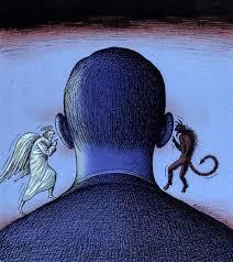 Resultado de imagem para entre o anjo e o demônio charge
