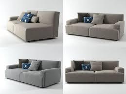 soho low arm sofa 3d model turbosquid