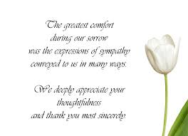 Condolence Sample Note Sample Funeral Thank You Cards Pinteres 23