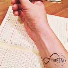 татуировка знак бесконечности