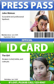 Make Your Own Identification Card Badge Maker Make Your Own Id Cards