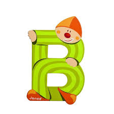 Wooden Letters Design Janod Wooden Letter B Clown Design Jack And Jill Kidswear